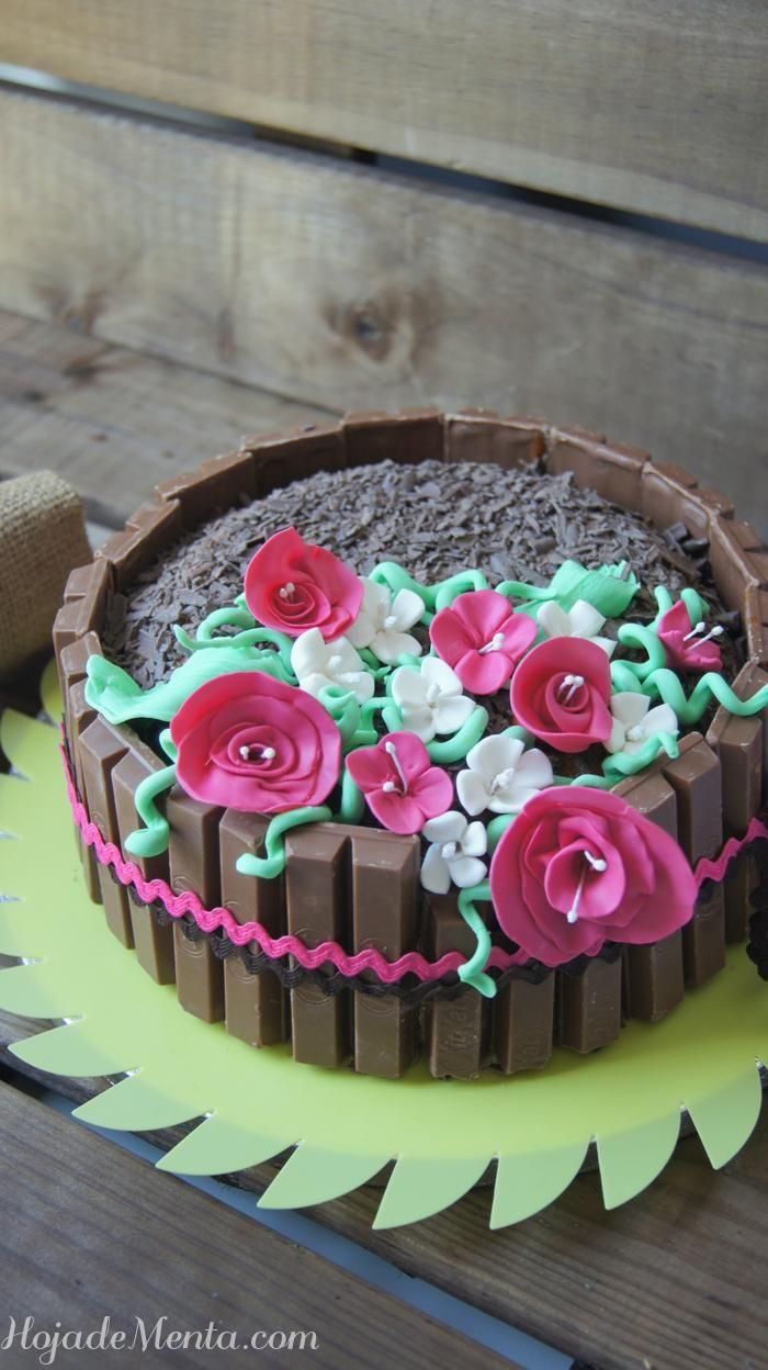 Tarta primaveral de chocolate blanco