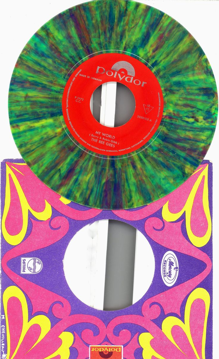Bee Gees My World On Time libano color vinyl