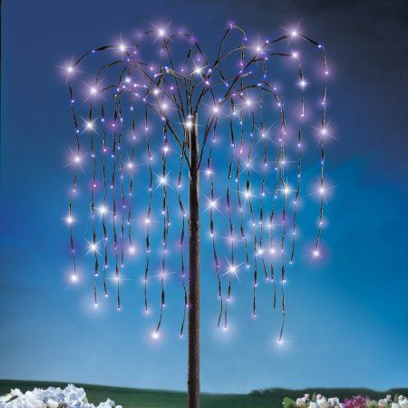 Collections Etc  Solar Outdoor Willow Branch Tree, Iron, Ethylene Vinyl Acetate (Eva)