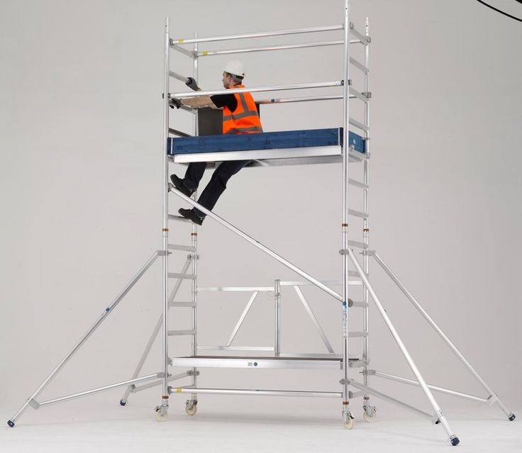 Mobile Scaffold Tower | Industrial Trade | Zarges Reachmaster Folding Scaffold in Business, Office & Industrial, Building Materials & Supplies, Scaffolding & Ladders | eBay