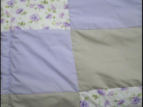 Como fazer edredom infantil reaproveitando um cobertorzinho velho. - YouTube