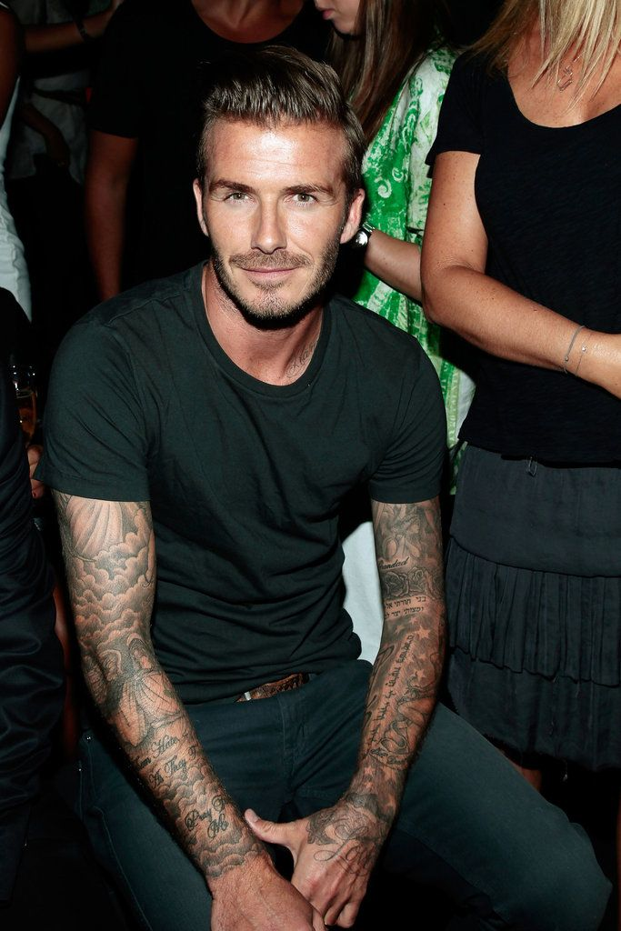 David Beckham bringing the hotness to New York Fashion Week
