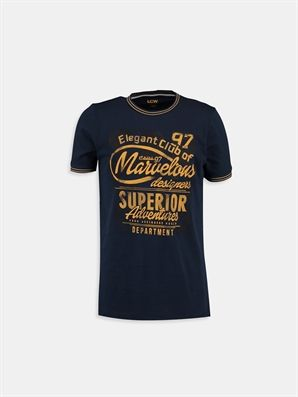 Navy Printed Regular Crew Neck T-Shirt, Urun kodu: 6YF157Z6-J2V,Product Type:T-shirts,Design:Printed,Fit:Regular,Neck Type:Crew Neck,Main Fabric:%100 Cotton,