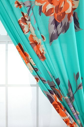 Plum Amp Bow Falling Garden Curtain From Urban Outfitters
