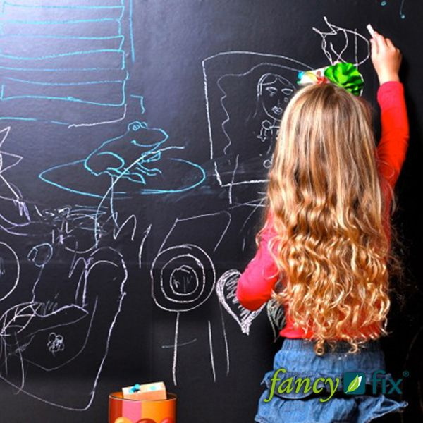 New Arrivals Vinyl Chalkboard Sticker Wall Decals Removable Blackboard Stickers 45CMx100CM with 5 Free Chalks B1-in Wall Stickers from Home ...