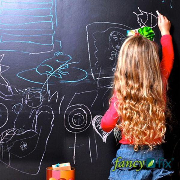 New Arrivals Vinyl Chalkboard Sticker Wall Decals Removable Blackboard Stickers 45CMx100CM with 5 Free Chalks B1 US $5.95