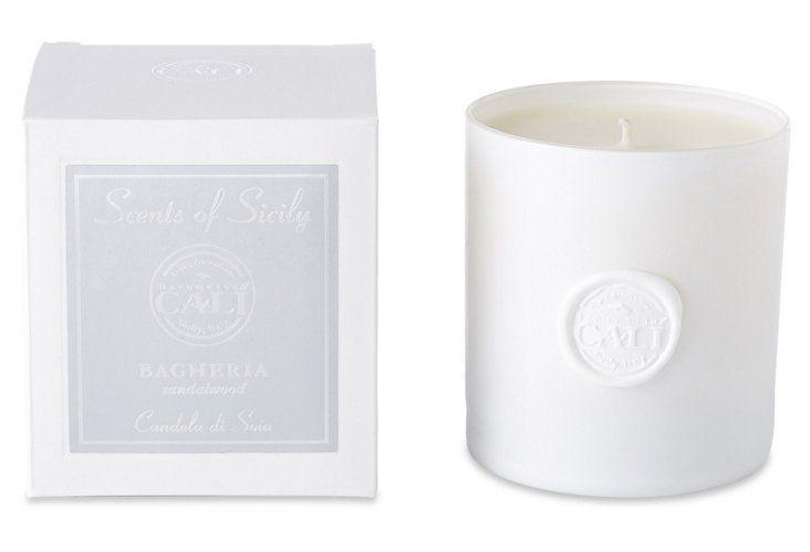 Bagheria  Sandalwood Candle, White