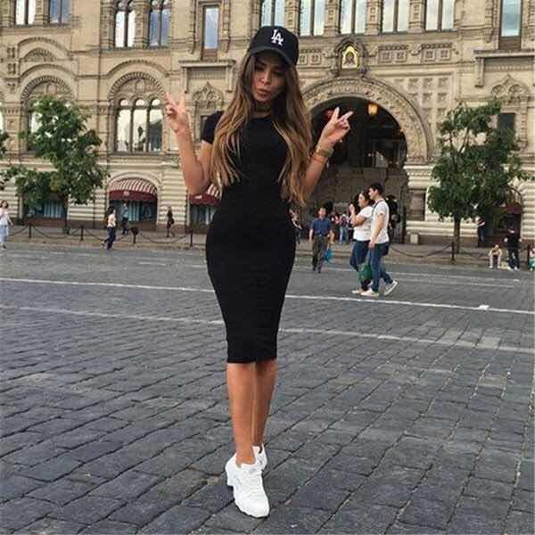 Outfits De Vestidos Con Tenis Slim Bodycon Dress Short Dresses Casual Bodycon Dress