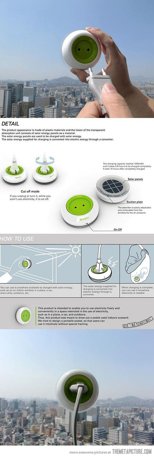 Portable solar energy charger, this changes everything…