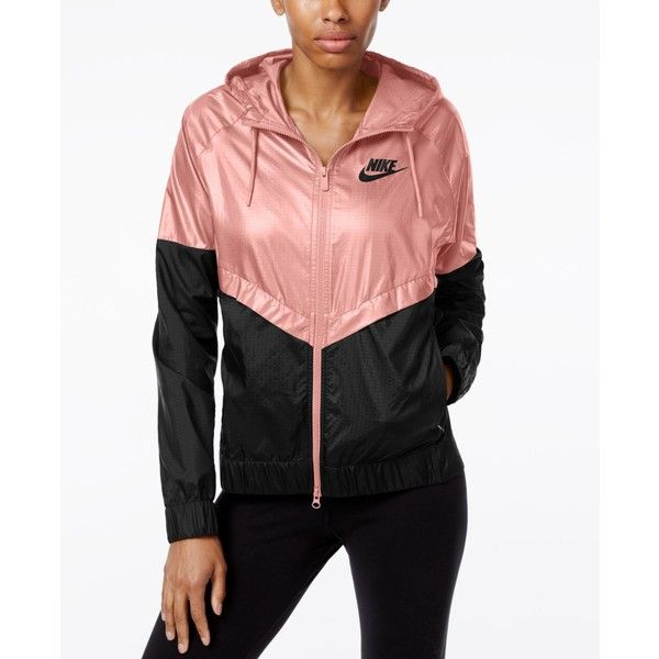 Nike Colorblocked Windrunner Jacket ($68) ❤ liked on Polyvore featuring activewear, activewear jackets, nike, nike sportswear and nike activewear