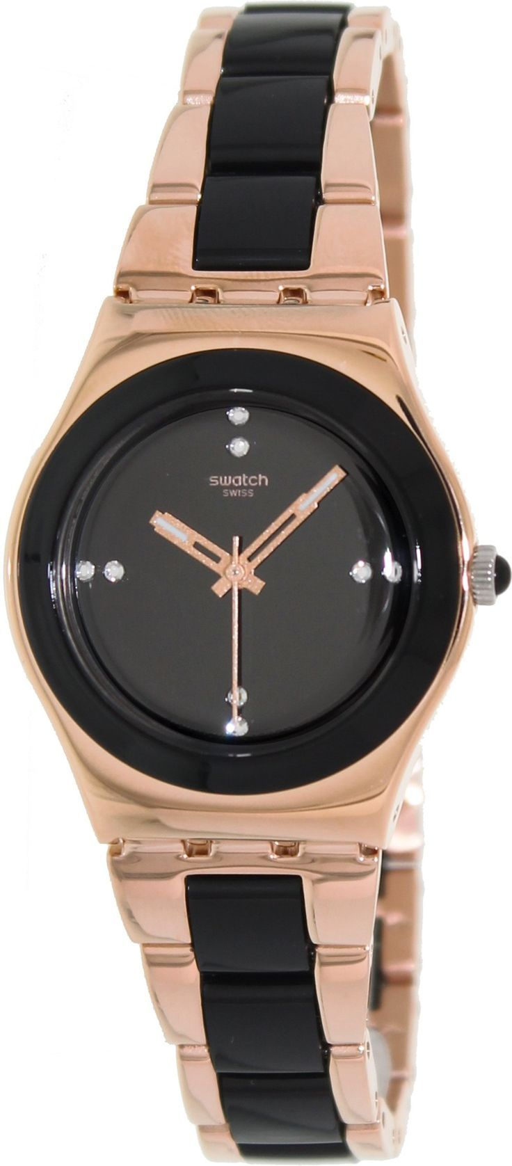 Swatch Women's Irony YLG123G Two-Tone Stainless-Steel Swiss Quartz Watch #swatch #watch #tarazz