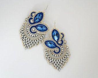 Boucles d'oreilles de soutache sutasz kolczyki par CattaleyaJewelry