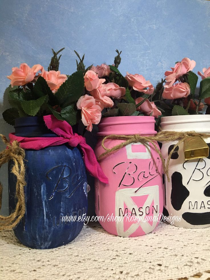 A personal favorite from my Etsy shop https://www.etsy.com/listing/520437533/cowgirl-birthday-party-mason-jar-set
