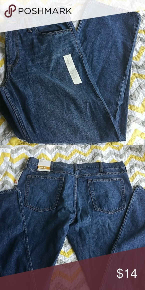 NWT Old Navy Mens Bootcut Jeans Men's Old Navy boot-cut jeans in a medium wash.  Size 36x34.  New with tags.  *Lowest price unless bundled* Old Navy Jeans Bootcut