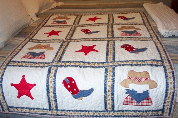 Baby Boy Quilt 50 00 Cowboy Quilt Ideas Pinterest
