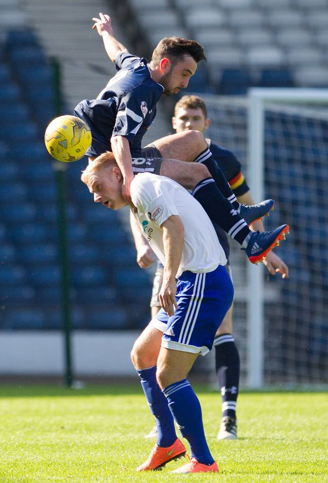 Queen's Park's Anton Brady in action during the Ladbrokes League One game between Queen's Park and Peterhead.
