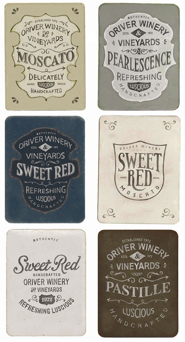 Oriver Winery Label Project on Packaging Design Served