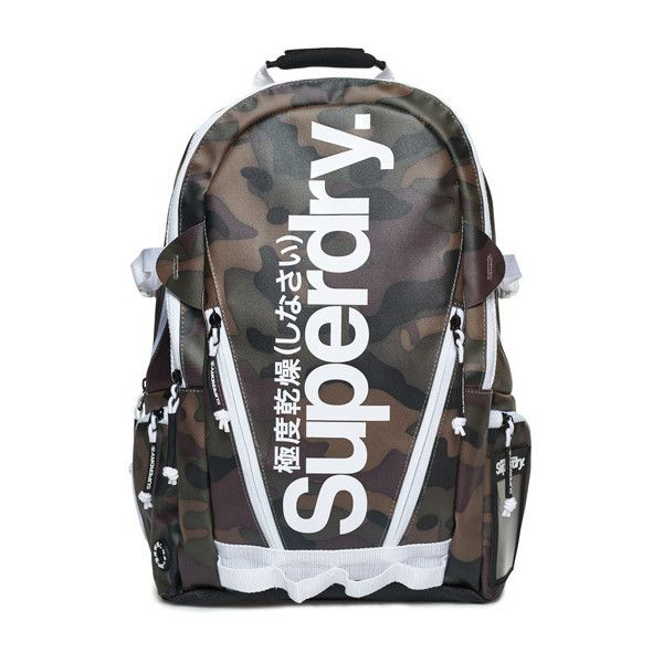 Superdry Mono Tarp Backpack ($75) ❤ liked on Polyvore featuring men's fashion, men's bags, men's backpacks, green, mens backpack and mens laptop backpack