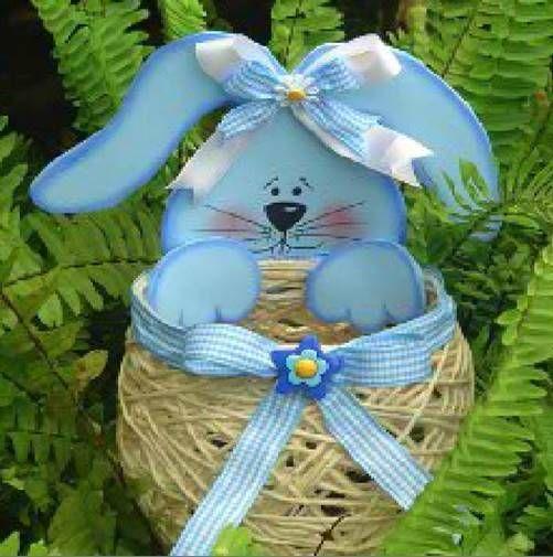 DIY Yarn String Easter Basket