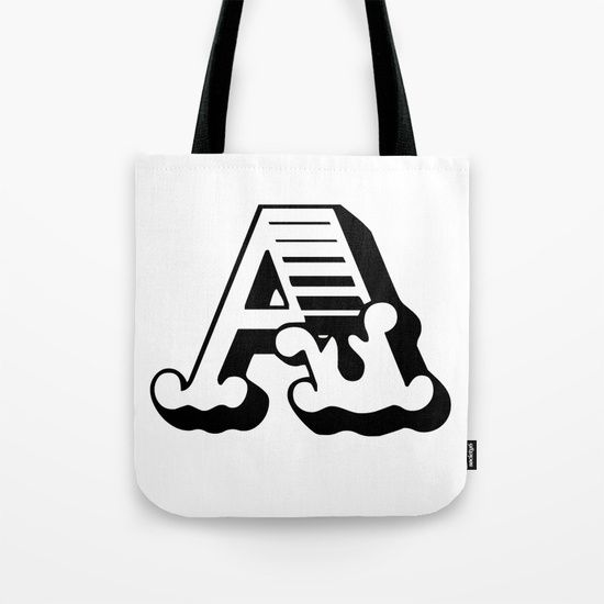 The Letter A - Retro Vintage Design Tote Bag by Dominic Joyce | Society6