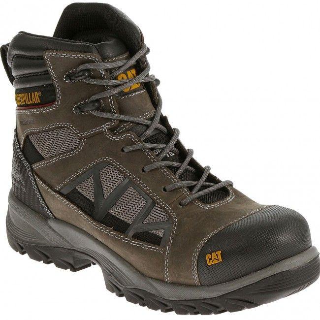 90553 Caterpillar Men's Compressor Safety Boots - Dark Gull Grey  www.bootbay.com