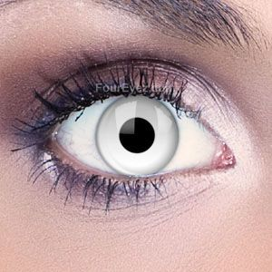 Freak out your friends with these Funky Eyes  White Contact Lenses.  The lenses will make your eyes appear white with just you pupil showing making them the perfect edition to any Halloween costume.    Funky Eyes Crazy Contact Lenses  can transform your eyes for that extreme and eye-catching look. If you are looking to create the perfect Halloween or fancy dress costume then our ranges of Scary and freaky lenses are the best way to help accessorise. Our Funky Eye lenses are comfortable and…