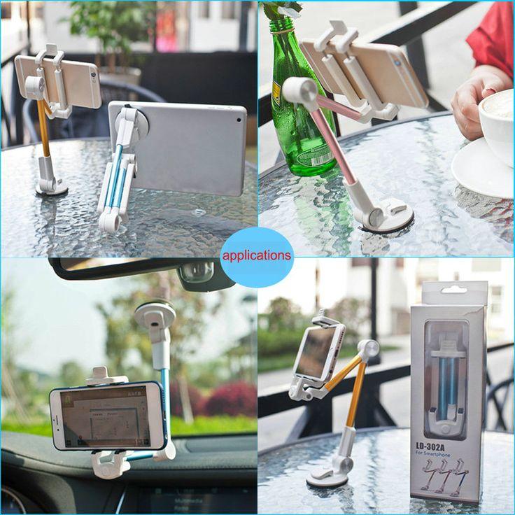 LD-302A Omni-directional Adjustable Front Glass Dashboard Sucker Desktop Stand Phone Tablet Holder