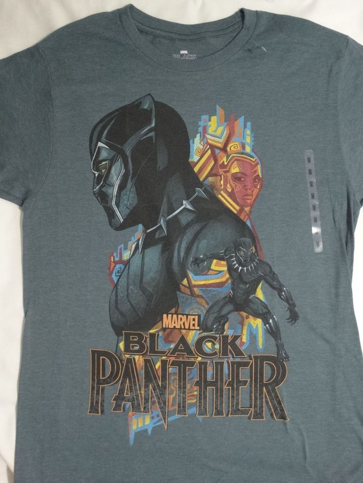 The Black Panther Movie Collage Marvel Comics T-Shirt #Marvel #GraphicTee