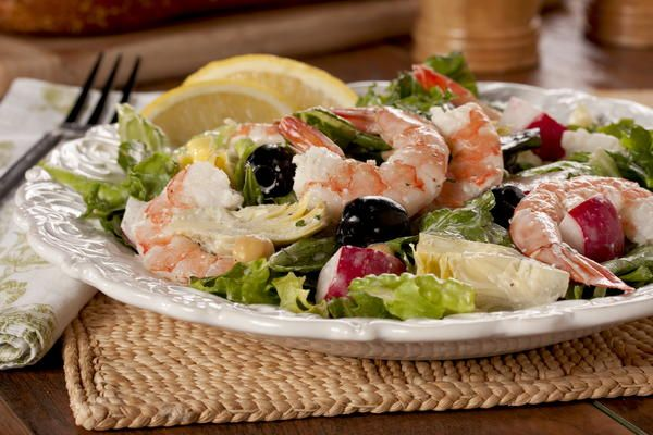 Creamy Shrimp Caesar Salad   MrFood.com
