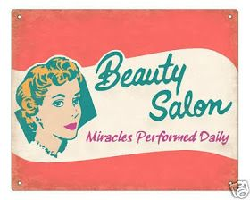 Retro vintage salon sign advertising 1950s 1960s
