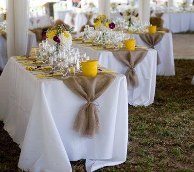 Burlap Runner –  Runner – Wedding Runner – Rustic Wedding Runner – Rustic Home Decor – Rustic Wedding Decor – Wedding Centerpiece – Nicola Suss