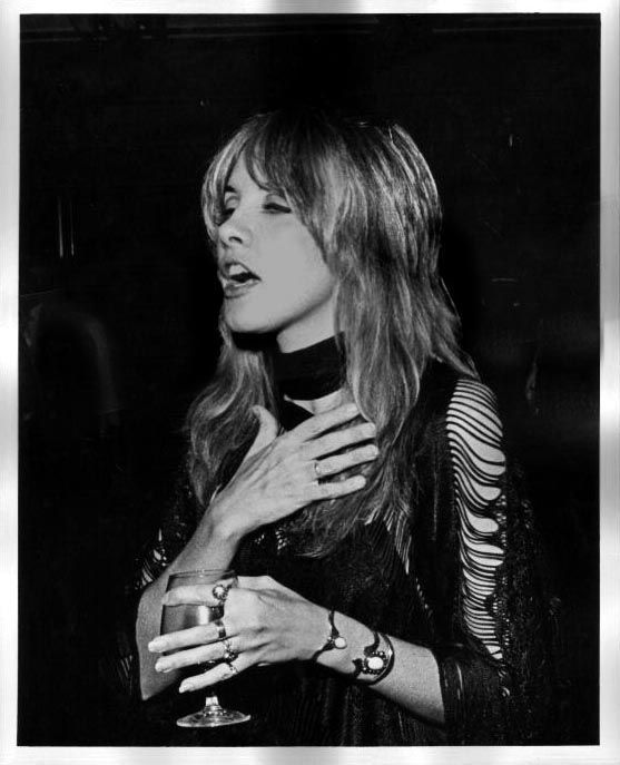 A stunning ring stack and matching accessories.. Stevie Nicks #styleidol…