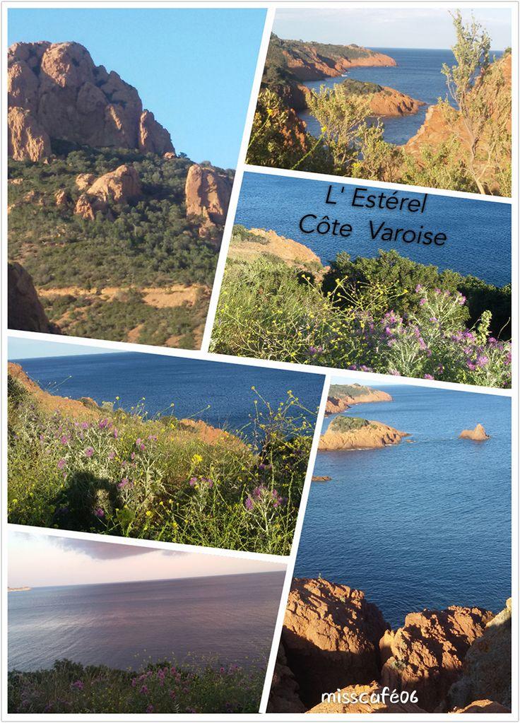 reconnaissable avec ses roches  de couleur rouge.      L'Estérel est situé sur les bords de mer vers St Raphael.                           Des  paysages magnifiques,   Si vous passez par le Var ou les Alpes Maritimes, faites un détour  avec l'appareil photo