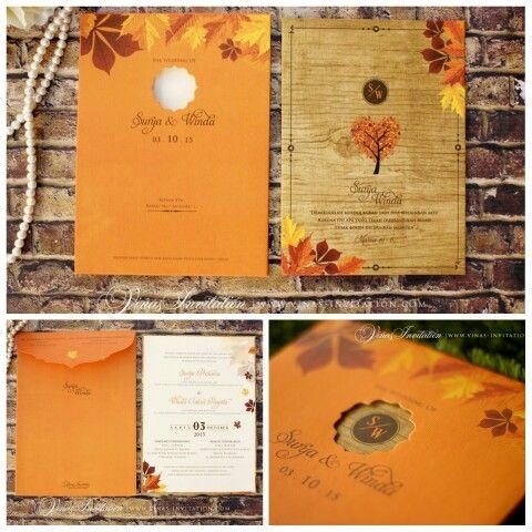 Vinas invitation. Wedding invitation. Indonesia wedding. Simple elegant. Flower print. Vintage invitation.  Any question pls visit us at website www.vinasinvitation.com courtesy of Surya &  Winda
