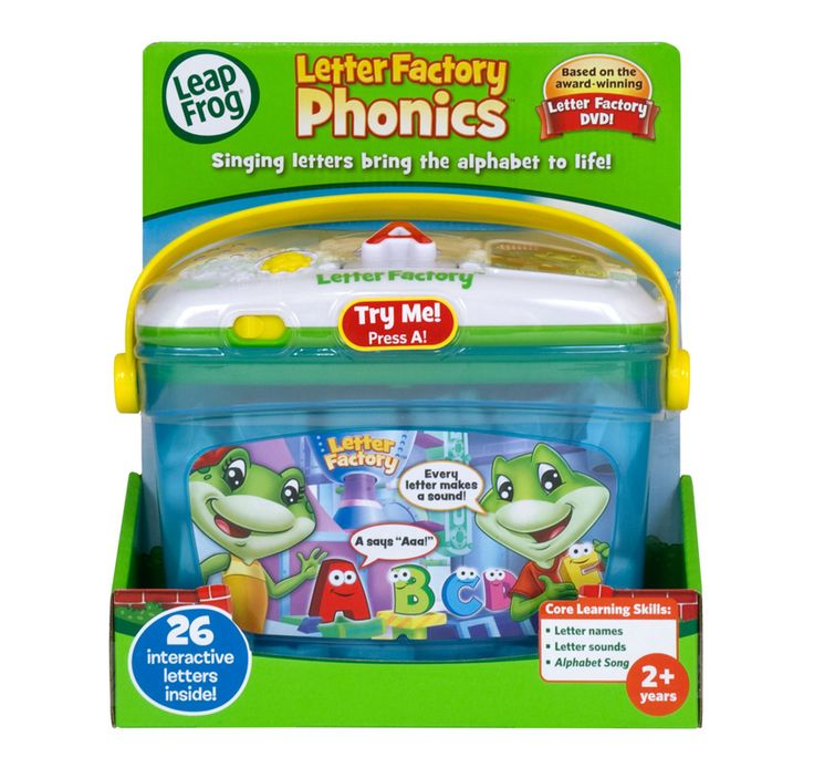26 singing letters bring the alphabet to life with the LeapFrog Letter Factory Phonics!