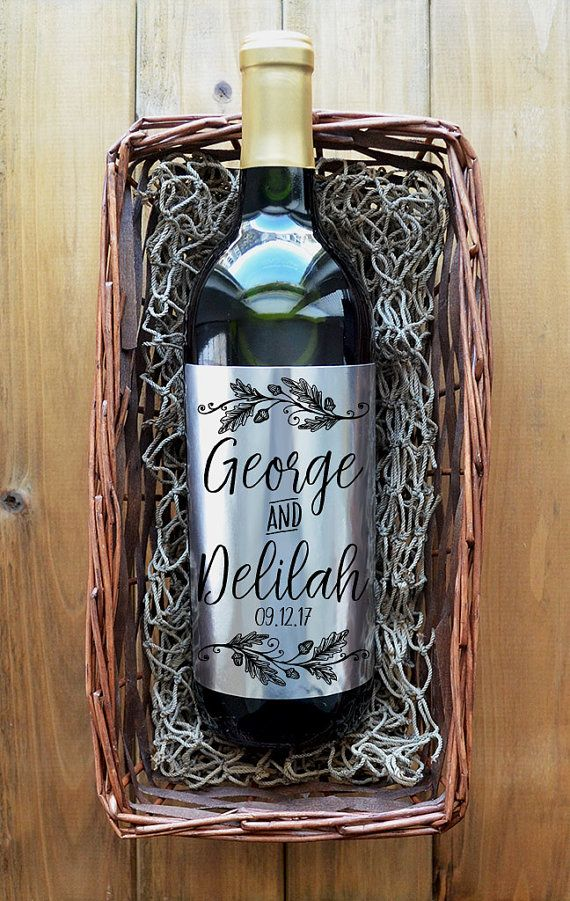 Custom Wine Label  Personalized Wine Label  Pack of 4 Labels