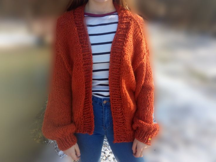 handknit oversized cardigan, for sell on etsy.com