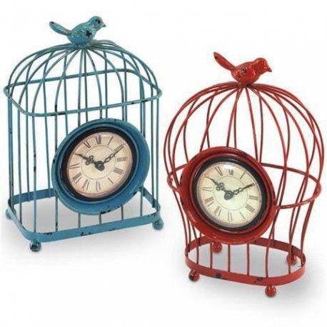Original reloj retro con forma de jaula por su aspecto oxidado. ¡Marca las horas con tu mejor decoración del hogar! Coloca este reloj en tu salón, dormitorio...