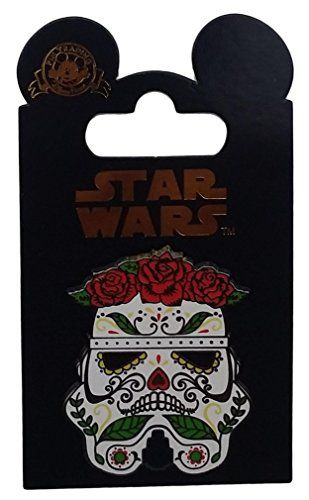 Disney Pin - Dia De Los Muertos Stormtrooper Helmet with Rose Crown //Price: $15.95 & FREE Shipping //     #starwarsfan