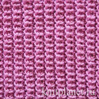 Шотландская резинка - Шотландская резинка - узор плотный и объемный. Хорошо растягиваестя. Эластичен, как и все резинки. Схема вязания узора.