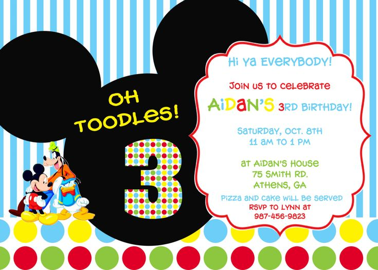 63 best Mickey Mouse Clubhouse 1st Birthday Ideas images on - mickey mouse invitation template