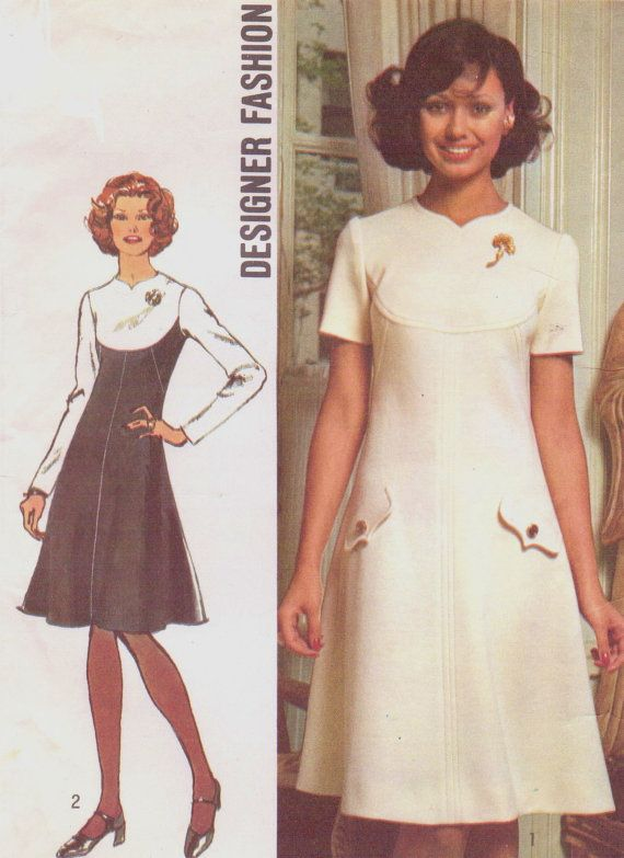 70s designer fashion simplicity sewing pattern 5344 by cloescloset