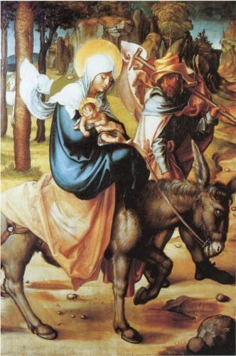 """Albrecht Dürer """"The Flight to Egypt"""" (softwood), 1497"""