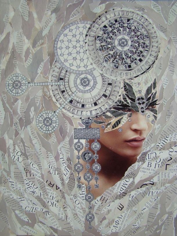 Emilia Elfe  (handmade collage) #emiliaelfe #handmadecollage  #collage…