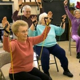 Many great ideas for physical activity for older adults including seniors with Alzheimer's disease or other form of dementia.