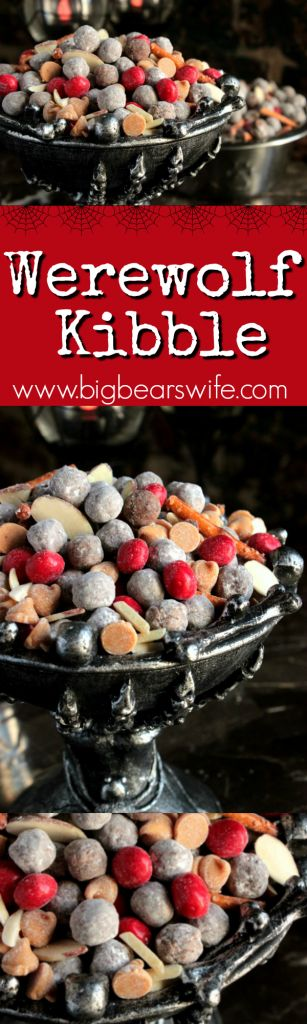 Werewolf Kibble -- Hungry little werewolves prowling around your kitchen? Satisfy their sweet tooth with this homemade Werewolf Kibble. They'll be howling with delight.