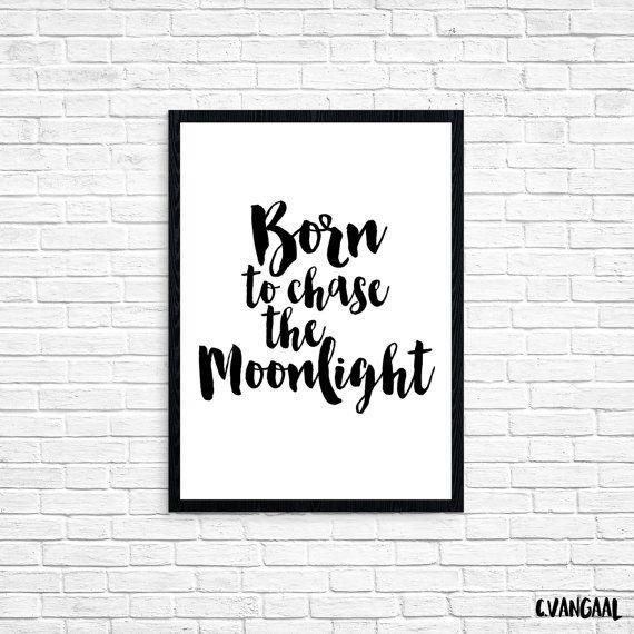Foil Moonlight Print