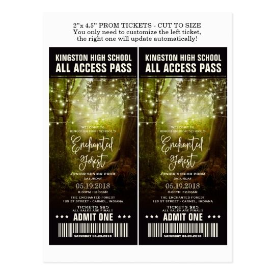 36 best Prom Invitations,Tickets And Flyers images on Pinterest - prom ticket template