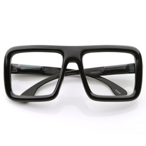 Large Retro-Nerd Bold Thick Square Frame Clear Lens Glasses (Shiny Black) Unknown http://www.amazon.com/dp/B00B22SVGK/ref=cm_sw_r_pi_dp_eJI7tb1XS3S0F