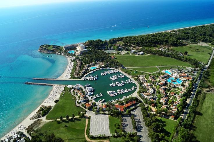 Sani Marina airview. Location: Halkidiki, Greece